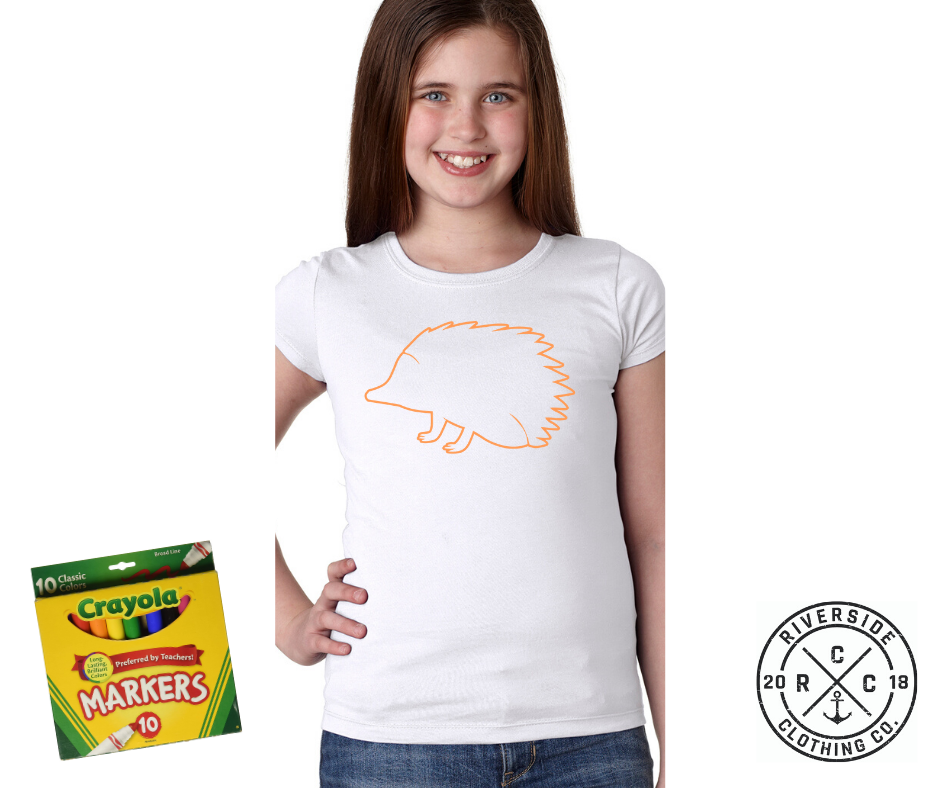 Porcupine Coloring Shirt