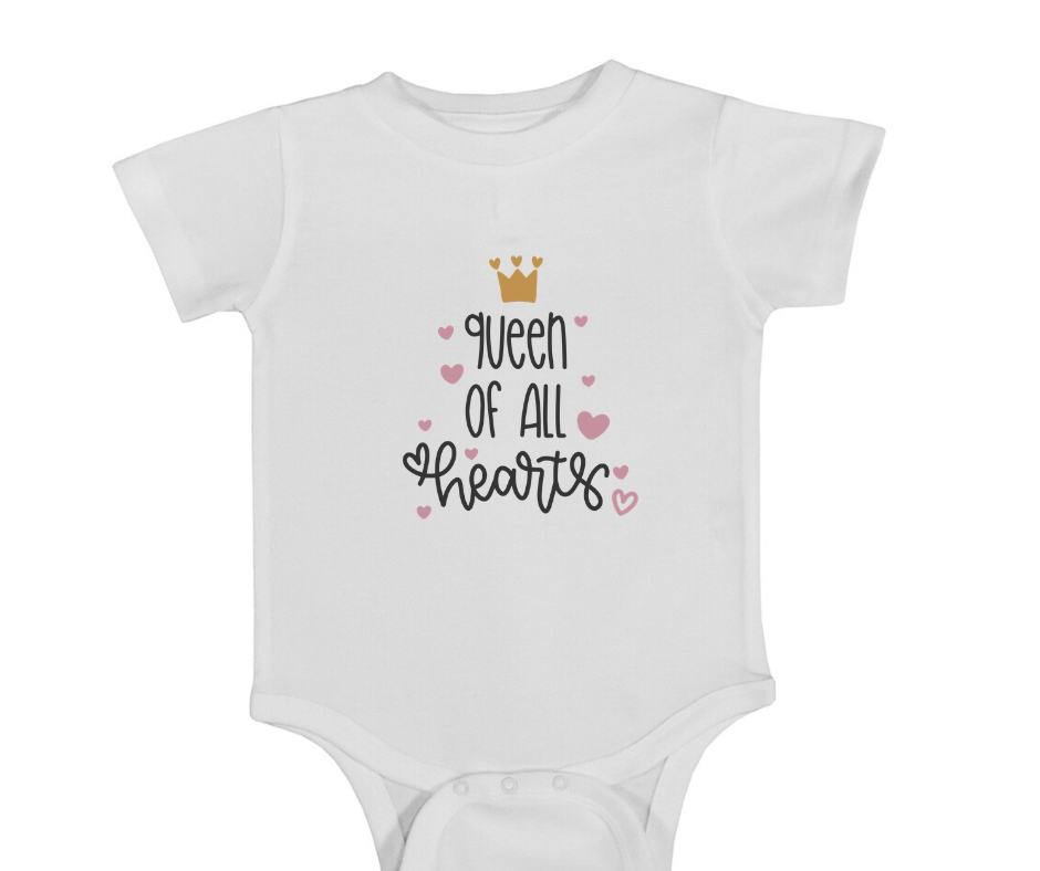 Queen of all the Hearts Onesie