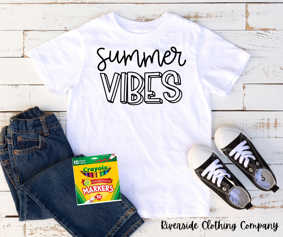 Summer Vibes Coloring Shirt