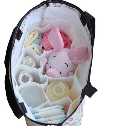 Portable Travel 7 Liners Diaper Nappy Organizer Stuffs Insert Storage Bag