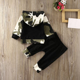 Camouflage Camo Hoodie W/ Long Pants 2Pcs Set