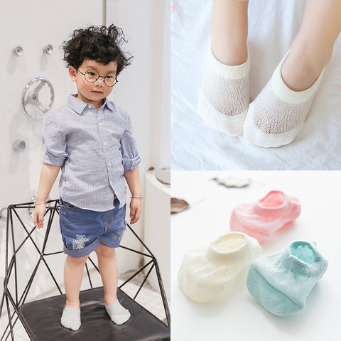 Baby Boy Girl Socks Kids Soft Sock-Boat Socks thin mesh Infant Kids Soft Sock Summer breathable Fall Sock