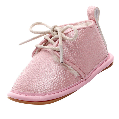 2017 Winter Baby Boy Girl Soft Shoes Soft Soled Non-slip Footwear Crib Shoes Newborn baby shoes PU Suede Leather baby shoes