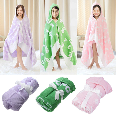 Bath Towel Children's Towel Bath Cotton Cloak Hooded Hat Bathrobe Beach Bath Towel for Baby Kids Blanket Swaddle Wrap Towels