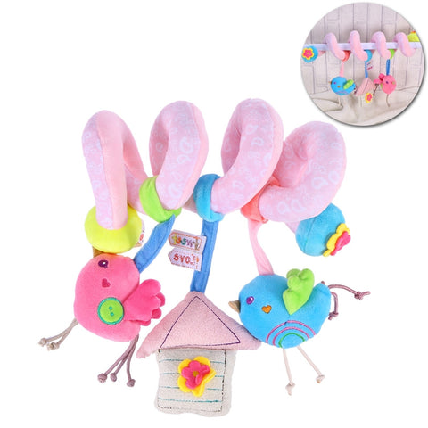 Infant Baby Activity Spiral Bed & Stroller Toy Lovely Bird Educational Plush Toy