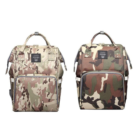Waterproof Camo Diaper Bag Backpack