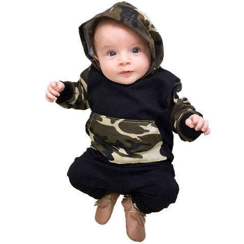 Camo Hoodie W/ Long Pants Set