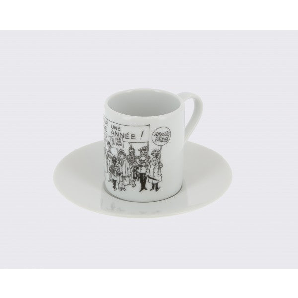 Set of 2 Expresso mugs- Tintin