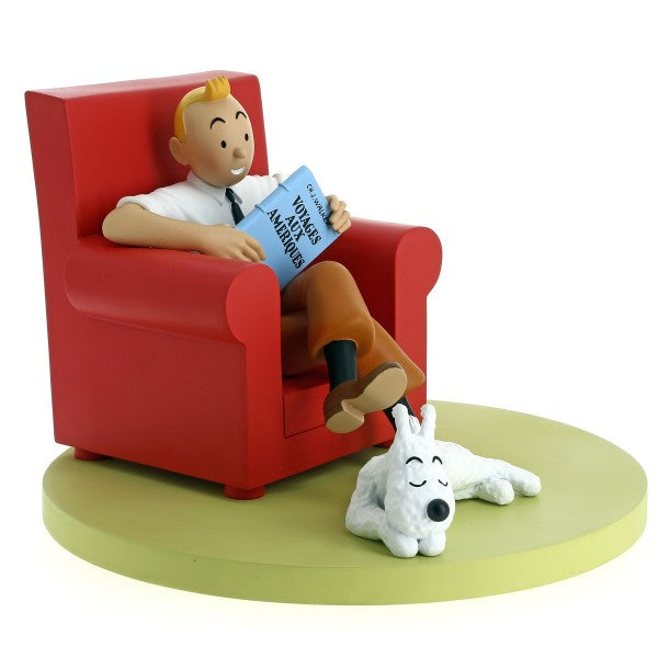 Tintin in red Armchair
