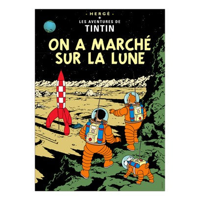 Poster Album Cover - On a marché sur la lune