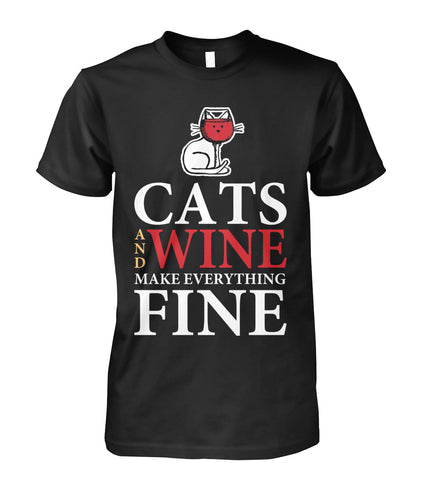 WINE CAT AND WINE MAKE EVERYTHING FINE