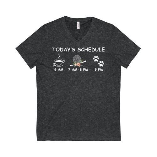 CROCHET SHIRT - TODAY'S SCHEDULE - V-Neck Tee