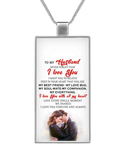 I LOVE YOU - MY HUSBAND - PERSONALIZED DOG TAG