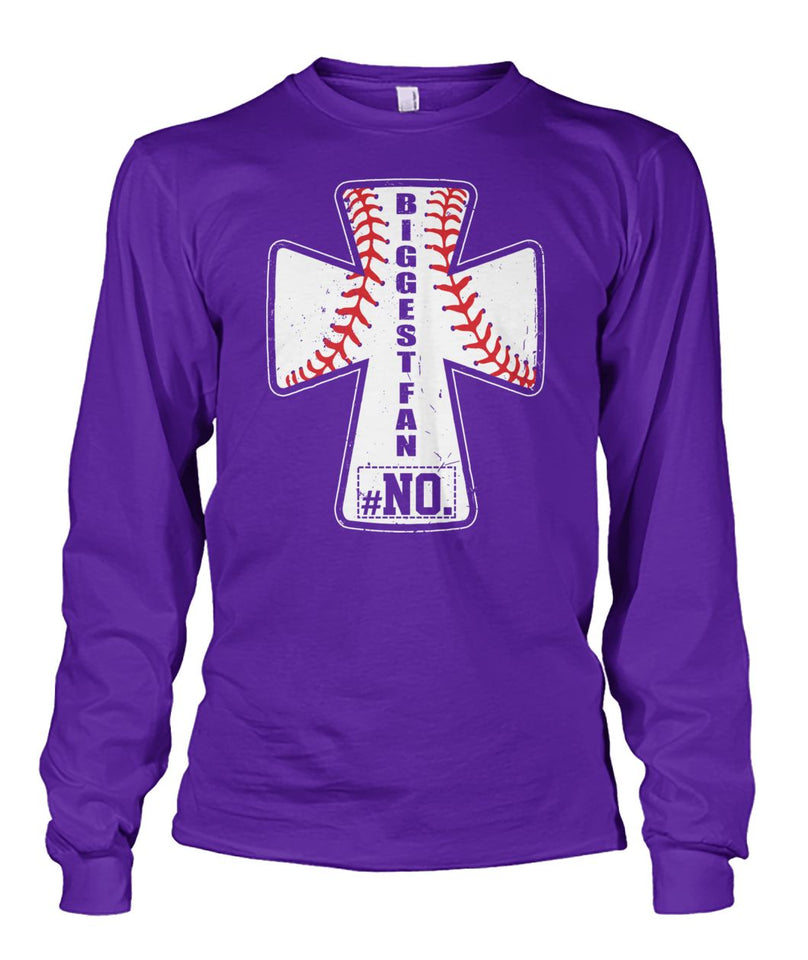 BIGGEST FAN BASEBALL- CUSTOMIZED SHIRT