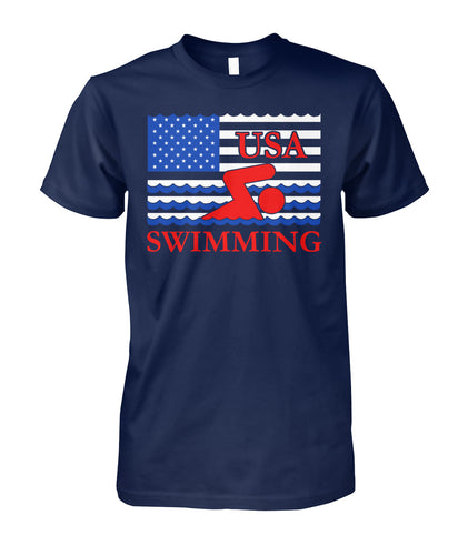 SWIMMING AMERICA FLAG