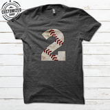 BASEBALL - NAME NUMBER IRON - CUSTOMIZED SHIRT / 2 SIDES