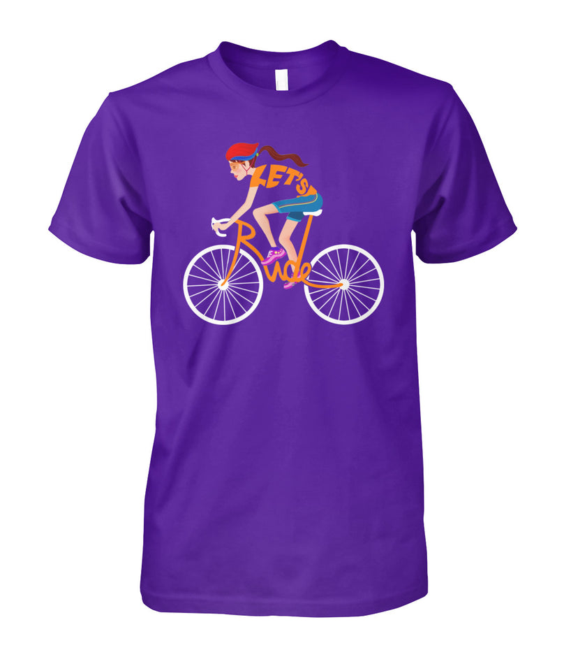 CYCLING- LET'S RIDE-WOMAN
