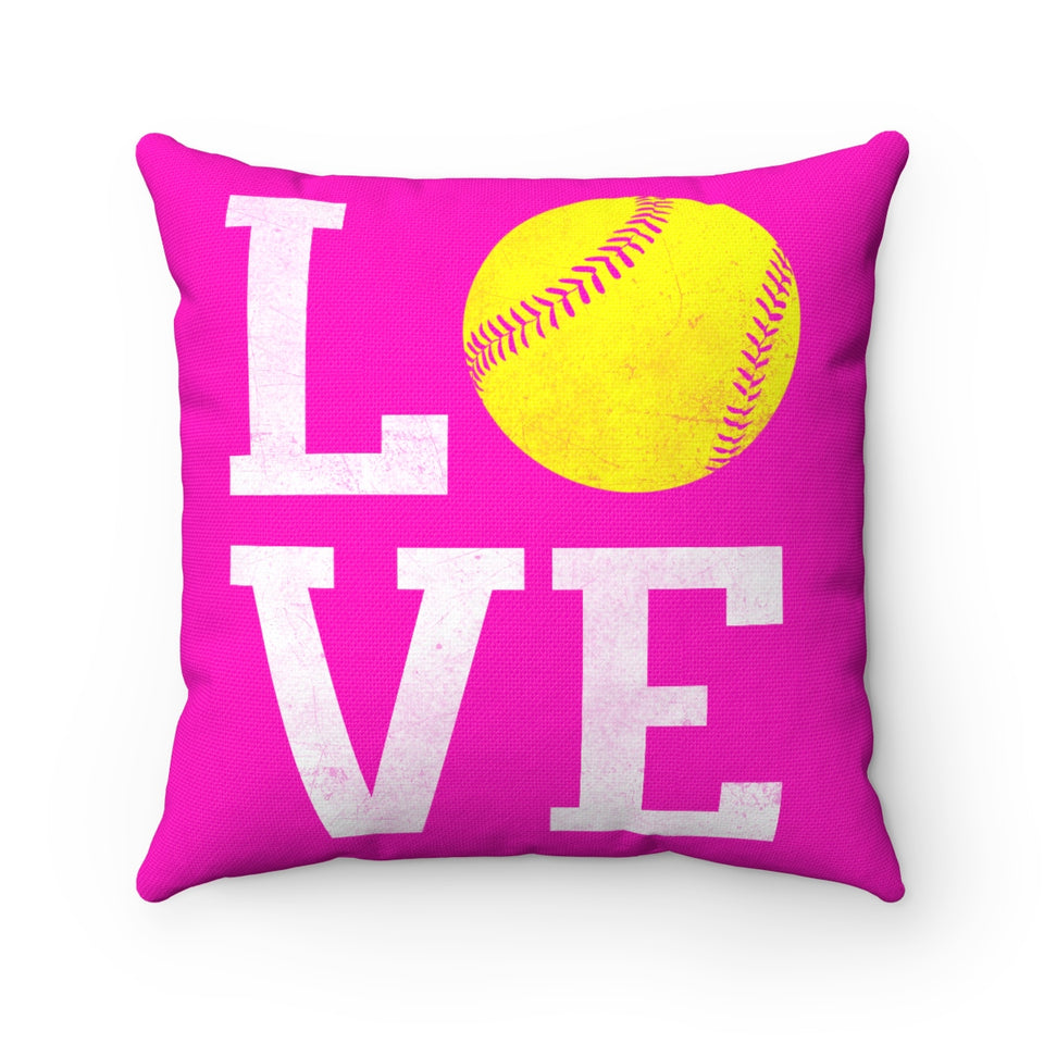 CUSTOM SOFTBALL SQUARE PILLOW - LIMITED EDITION