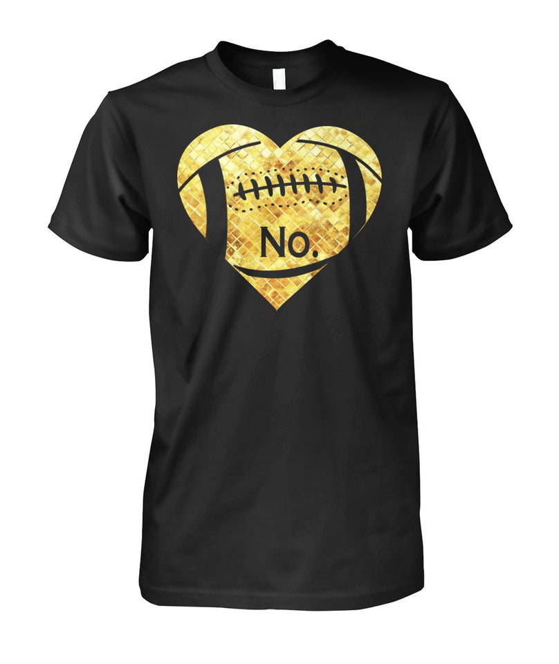FOOTBALL GOLD HEART - CUSTOMIZED SHIRT