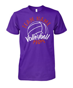 VOLLEYBALL MOM TEAM NAME- NUMBER- CUSTOMIZED SHIRT