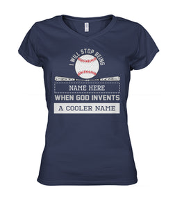 A BASEBALL COOLER NAME-CUSTOMIZE SHIRT
