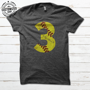 SOFTBALL - NUMBER IRON - CUSTOMIZED SHIRT