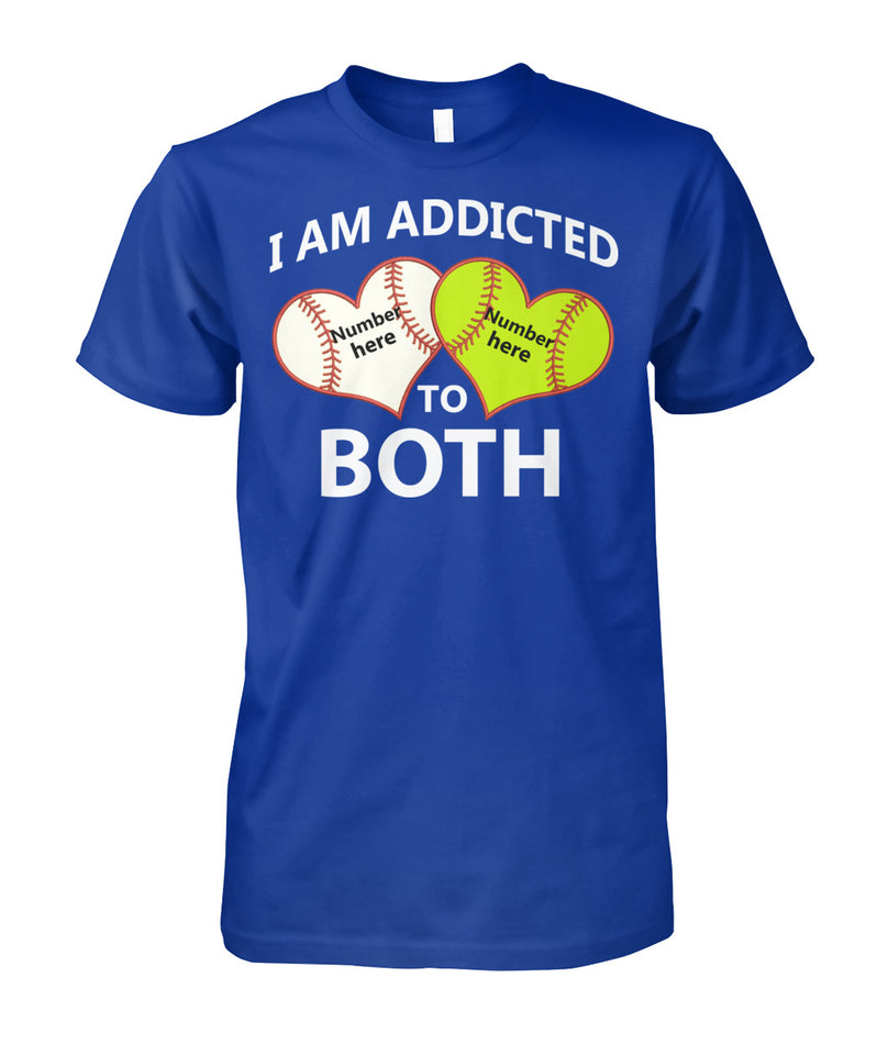 I AM ADDICTED TO SOFTBALL AND BASEBALL