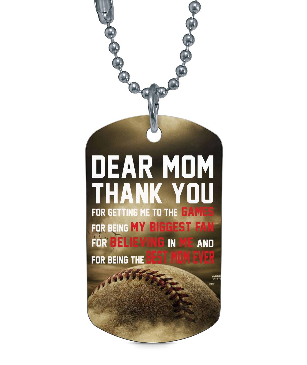 MY BASEBALL BIGGEST FAN DOG TAG