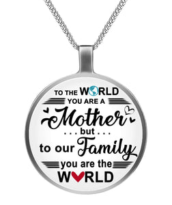 OUR WORLD - FAMILY  Circle Necklace