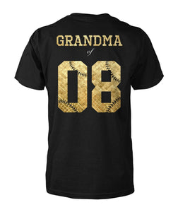 GOLDEN BASEBALL SHIRT - NUMBER - LIMITED EDITION
