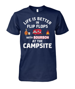 LIFE IS BETTER IN FLIP FLOPS WITH BOURBON-Special order!