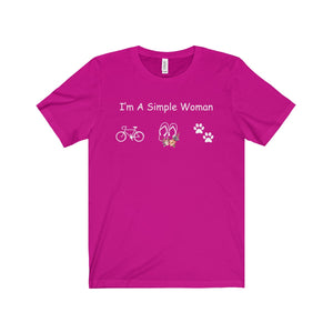 CYCLING SHIRT - I'M A SIMPLE WOMAN