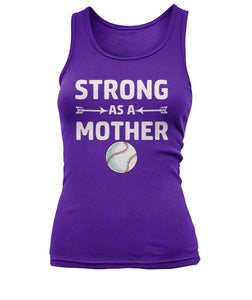 BASEBALL-STRONG AS A MOTHER-CUSTOMIZED SHIRT