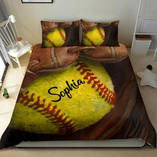 Softball Glove Custom Bedding Set - NG0811191TQ