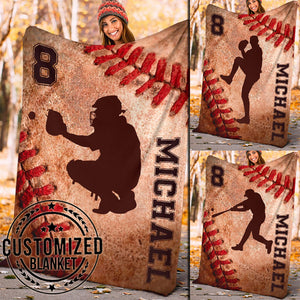 Old Dirty Baseball Custom Blanket - TH2011193HA