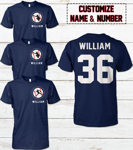 CATCHER-BASEBALL STAR-NAME-NUMBER-CUSTOMIZED SHIRT