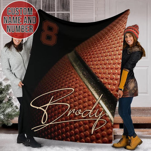 Custom Name & Number Basketball Blanket - TH0312196NG