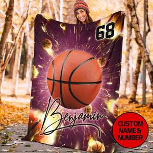 Lighten Firewall Basketball Custom Blanket - MP17121904NG