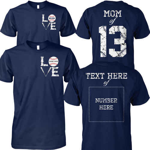BASEBALL FAMILY-CUSTOMIZE SHIRT