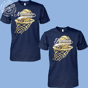 BASKETBALL- NAME- CUSTOMIZED SHIRT