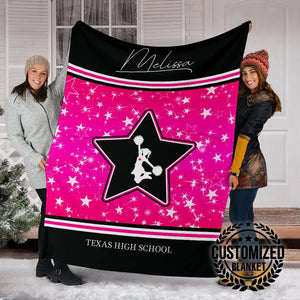 Pink Star Cheerleader Custom Blanket - MP13121901HA