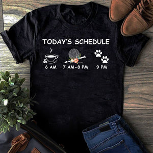 CROCHET SHIRT - TODAY'S SCHEDULE - LIMITED EDITION