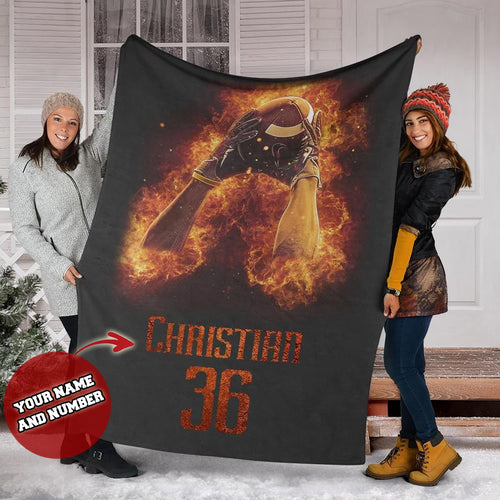 Football Blaze Custom Blanket - MI2011195NG