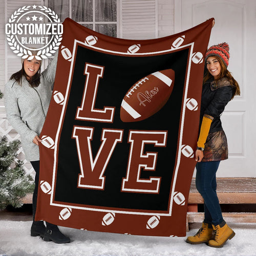 Football Love Custom Blanket - MP20111905HA