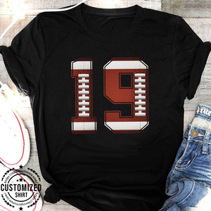 FOOTBALL - NUMBER - CUSTOMIZED SHIRT (D)