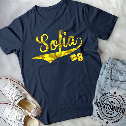 SOFTBALL - NAME & NUMBER (2019) - CUSTOMIZED SHIRT