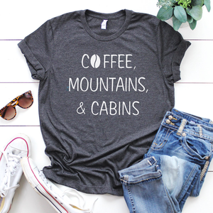 COFFEE, MOUNTAINS, CABINS