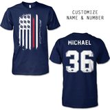 FLAG FOOTBALL SHIRT - NAME - NUMBER