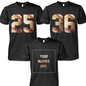 BASEBALL - NUMBER (FRONT) - CUSTOMIZED SHIRT