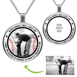 I BELIEVE IN YOU - PERSONALIZED CIRCLE NECKLACE